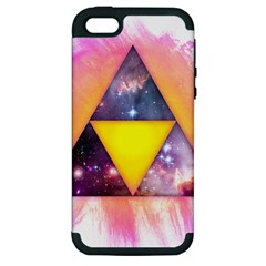 Cosmic Triple Triangles Apple iPhone 5 Hardshell Case (PC+Silicone)
