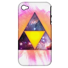 Cosmic Triple Triangles Apple iPhone 4/4S Hardshell Case (PC+Silicone)