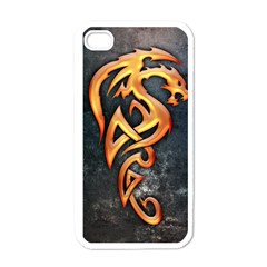 Golden Dragon Apple Iphone 4 Case (white)