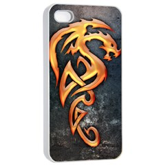 Golden Dragon Apple iPhone 4/4s Seamless Case (White)