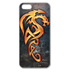 Golden Dragon Apple Seamless iPhone 5 Case (Clear)