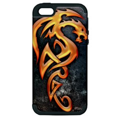 Golden Dragon Apple Iphone 5 Hardshell Case (pc+silicone)