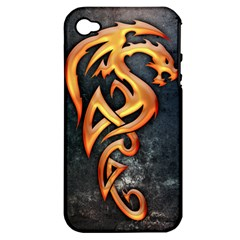 Golden Dragon Apple Iphone 4/4s Hardshell Case (pc+silicone)