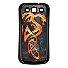 Golden Dragon Samsung Galaxy S3 Back Case (black)