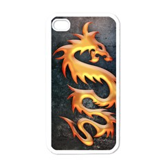 Golden Tribal Dragon Apple Iphone 4 Case (white)