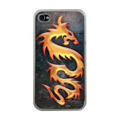 Golden Tribal Dragon Apple iPhone 4 Case (Clear)