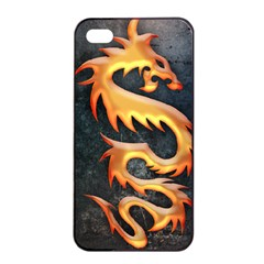 Golden Tribal Dragon Apple Iphone 4/4s Seamless Case (black)