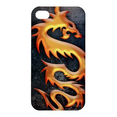 Golden Tribal Dragon Apple Iphone 4/4s Premium Hardshell Case