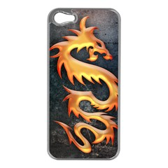 Golden Tribal Dragon Apple iPhone 5 Case (Silver)
