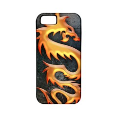 Golden Tribal Dragon Apple iPhone 5 Classic Hardshell Case (PC+Silicone)