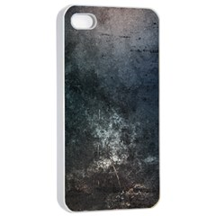 Grunge Metal Texture Apple iPhone 4/4s Seamless Case (White)