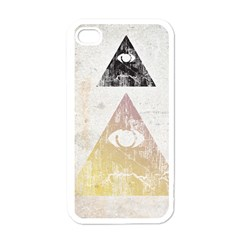 All seeing eye Apple iPhone 4 Case (White)