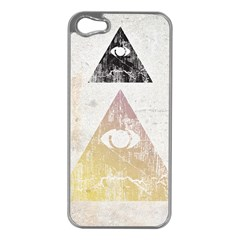 All Seeing Eye Apple Iphone 5 Case (silver)