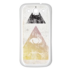 All Seeing Eye Samsung Galaxy S3 Back Case (white)