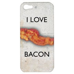 I love bacon Apple iPhone 5 Hardshell Case