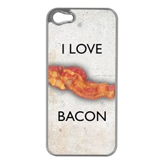 I love bacon Apple iPhone 5 Case (Silver)