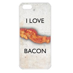 I love bacon Apple iPhone 5 Seamless Case (White)