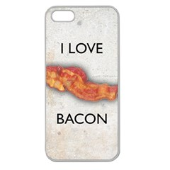 I love bacon Apple Seamless iPhone 5 Case (Clear)