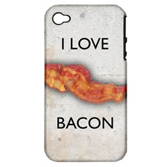 I love bacon Apple iPhone 4/4S Hardshell Case (PC+Silicone)