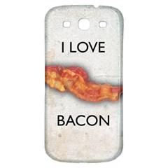 I love bacon Samsung Galaxy S3 S III Classic Hardshell Back Case
