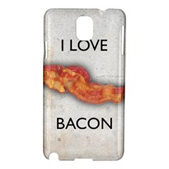 I love bacon Samsung Galaxy Note 3 N9005 Hardshell Case