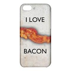 I love bacon Apple iPhone 5C Hardshell Case