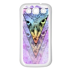 Owl Art Samsung Galaxy S3 Back Case (White)