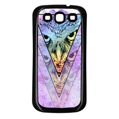 Owl Art Samsung Galaxy S3 Back Case (Black)