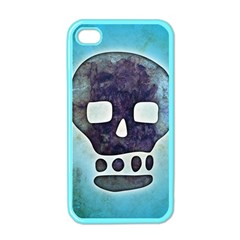 Textured Skull Apple iPhone 4 Case (Color)