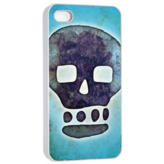 Textured Skull Apple iPhone 4/4s Seamless Case (White)