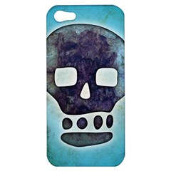 Textured Skull Apple Iphone 5 Hardshell Case