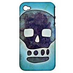 Textured Skull Apple Iphone 4/4s Hardshell Case (pc+silicone)