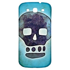 Textured Skull Samsung Galaxy S3 S III Classic Hardshell Back Case