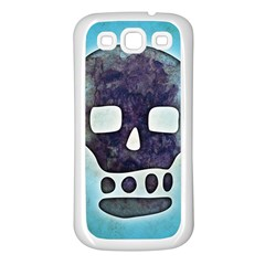 Textured Skull Samsung Galaxy S3 Back Case (white)