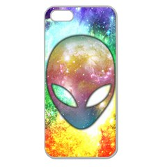 Space Alien Apple Seamless iPhone 5 Case (Clear)