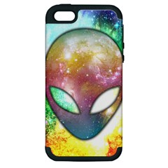 Space Alien Apple iPhone 5 Hardshell Case (PC+Silicone)