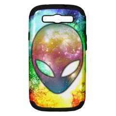 Space Alien Samsung Galaxy S III Hardshell Case (PC+Silicone)