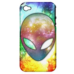 Space Alien Apple iPhone 4/4S Hardshell Case (PC+Silicone)
