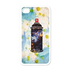 Spray Paint Apple iPhone 4 Case (White)