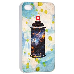 Spray Paint Apple iPhone 4/4s Seamless Case (White)