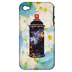 Spray Paint Apple iPhone 4/4S Hardshell Case (PC+Silicone)