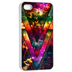 Triangles Apple iPhone 4/4s Seamless Case (White)