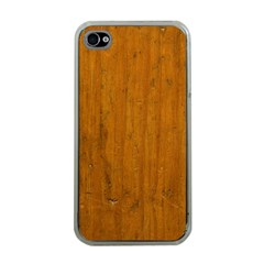 Dark Wood Apple Iphone 4 Case (clear)