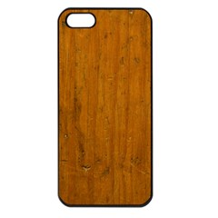 Dark Wood Apple Iphone 5 Seamless Case (black)