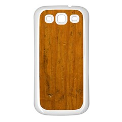 Dark Wood Samsung Galaxy S3 Back Case (White)