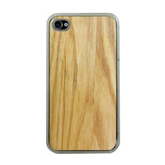 Light Wood Apple Iphone 4 Case (clear)