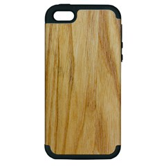 Light Wood Apple iPhone 5 Hardshell Case (PC+Silicone)