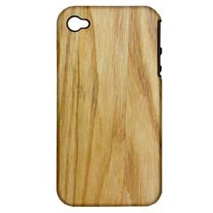 Light Wood Apple iPhone 4/4S Hardshell Case (PC+Silicone)