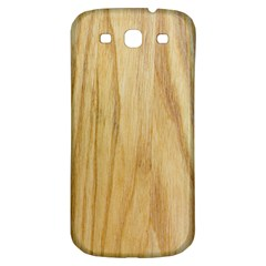 Light Wood Samsung Galaxy S3 S III Classic Hardshell Back Case