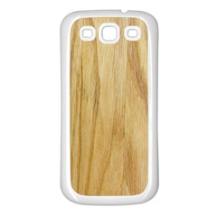 Light Wood Samsung Galaxy S3 Back Case (White)